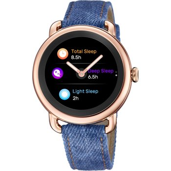 FESTINA Ladies Smartwatch Blue Leather Strap Gift Set