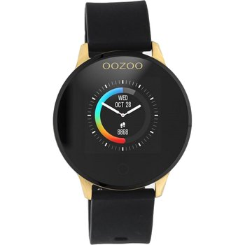 OOZOO Timepieces Smartwatches Black Rubber Strap