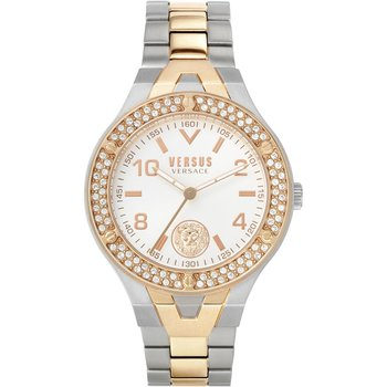 VERSUS VERSACE Vittoria Crystals Two Tone Stainless Steel Bracelet