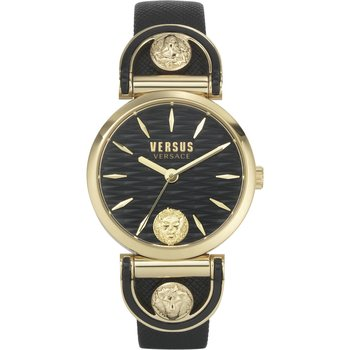 VERSUS VERSACE Iseo Crystals Black Leather Strap
