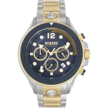 VERSUS VERSACE Volta Chronograph Two Tone Stainless Steel Bracelet