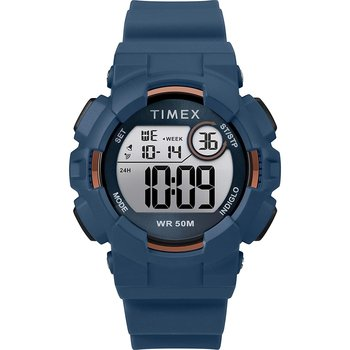 TIMEX Mako Dual Time Chronograph Blue Silicone Strap
