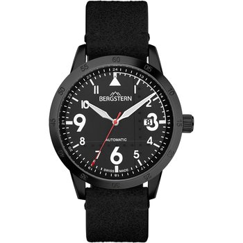 BERGSTERN Harmony Automatic Black Leather Strap
