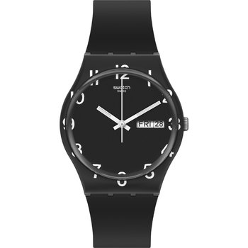 SWATCH Gents Over Black with Black Silicone Strap