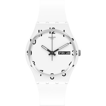 SWATCH Gents Over White with White Silicone Strap
