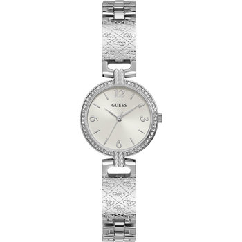 GUESS Mini Luxe Crystals Silver Stainless Steel Bracelet