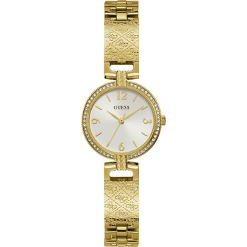 GUESS Mini Luxe Crystals Gold Stainless Steel Bracelet