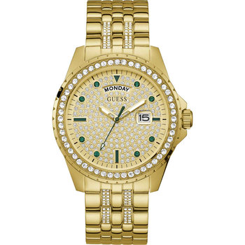 GUESS Comet Crystals Gold Stainless Steel Bracelet