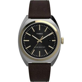TIMEX Milano XL Black Leather