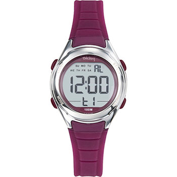 TEKDAY Women Chronograph Purple Silicone Strap