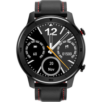 DAS.4 Smartwatch Chronograph Black Leather Strap SQ12