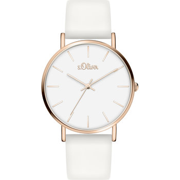s.Oliver Ladies White Silicon Strap