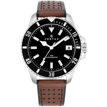 CERTUS Men Brown Leather Strap
