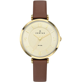 CERTUS Ladies Brown Leather Strap