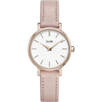 CLUSE Boho Chic Petite Pink Leather Strap