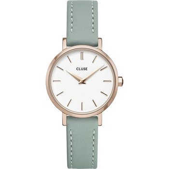 CLUSE Boho Chic Petite Green Leather Strap