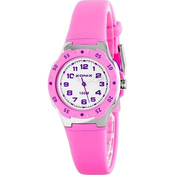 XONIX Ladies Chronograph Pink Rubber Strap