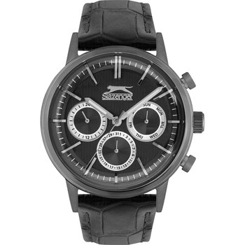 SLAZENGER Gents Black Leather Strap