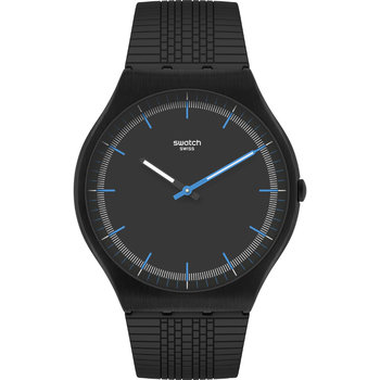 SWATCH Success Road Black Rubber Strap