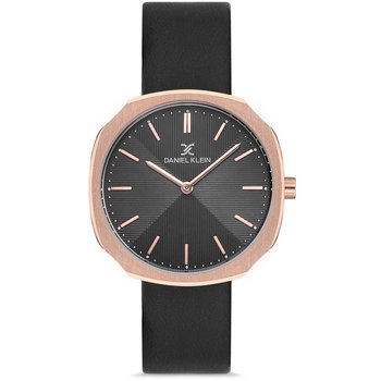 DANIEL KLEIN Black Leather Strap