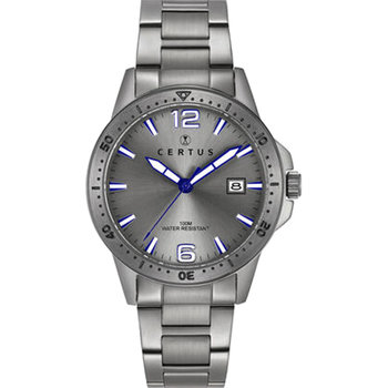 CERTUS Gents Grey Stainless Steel Bracelet