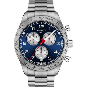 TISSOT PRS 516 Chronograph Silver Stainless Steel Bracelet