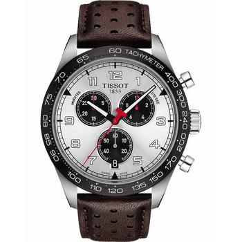 TISSOT PRS 516 Chronograph Brown Leather Strap