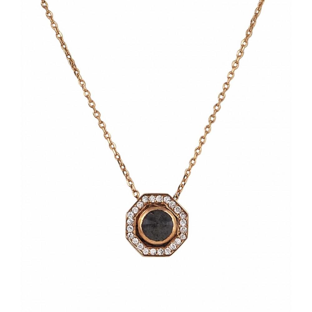 Ρολόι Κολιέ 18Κ Ροζ Χρυσό με Διαμάντια - 720PE2985 - OROLOI.gr f376cc45473