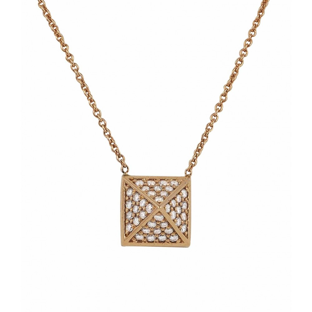 Ρολόι Κολιέ 18Κ Ροζ Χρυσό με Διαμάντια - 720PE3236 - OROLOI.gr 6fdc003d7a7