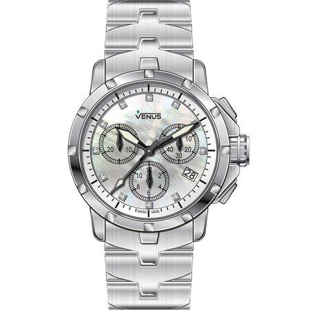 Ρολόι VENUS Diamonds Date Stainless Steel Bracelet - VE-1316A1-54-B1 ... 252c6440d13