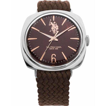 Ρολόι U.S. POLO Eleonore Brown Combined Materials Bracelet ... c288b7f328e