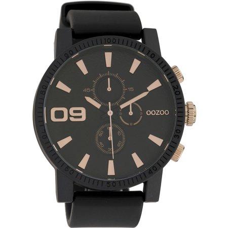 Ρολόι OOZOO STEEL XL Grey Rubber Strap - OS278 - OROLOI.gr d24bb1f67c8