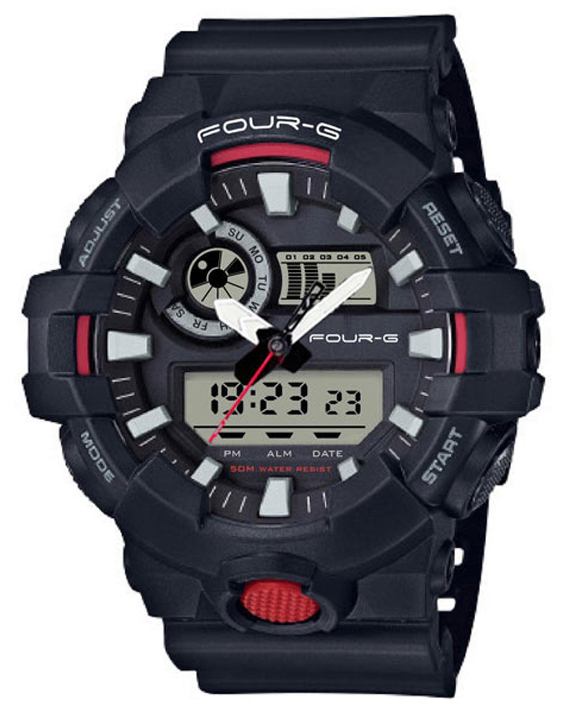 Ρολόι JAGA Four G Chronograph Black Plastic Strap - AD51FRED - OROLOI.gr 124b3b0bd23