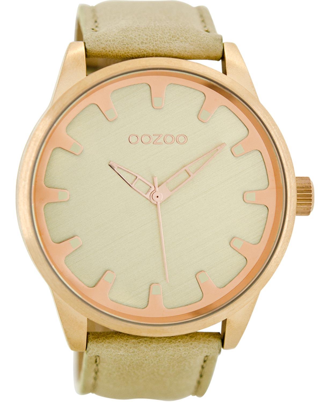 Ρολόι OOZOO Timepieces Beige Leather Strap - C8545 - OROLOI.gr a0689cdcab5