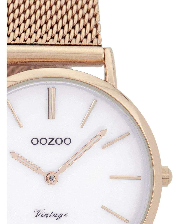 Ρολόι OOZOO Vintage Rose Gold Metallic Bracelet - C9365 - OROLOI.gr 3fa1e0cdff4