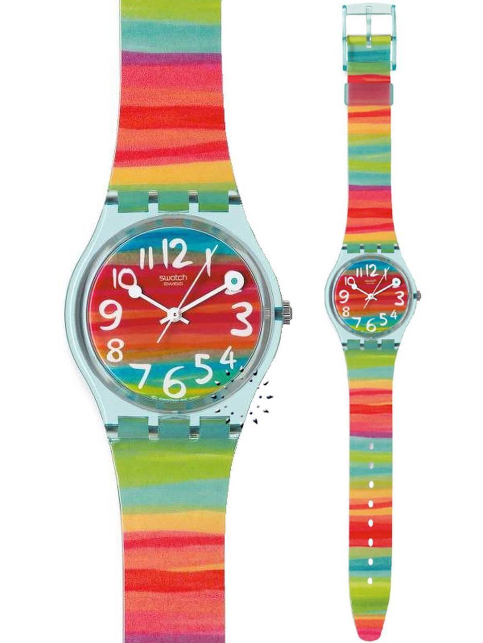 Ρολόι SWATCH Color The Sky Multicolor Rubber Strap - GS124 - OROLOI.gr 9b19ff91a6f