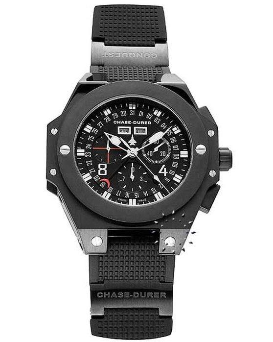 Ρολόι CHASE DURER Conquest Chronograph Black - 7784BL - OROLOI.gr d721524b3c7