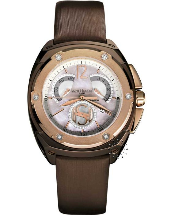 SAINT HONORE 125Th Anniversary Brown Leather Strap
