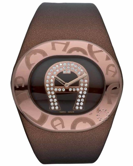 34f6bbe5a Ρολόι AIGNER Ravello Due Brown Leather Strap - A21256 - OROLOI.gr