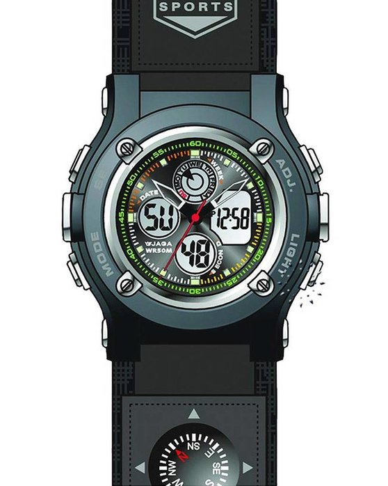 Ρολόι JAGA Sport Anadigi Black Rubber Strap - AD68st - OROLOI.gr 07bfd792229