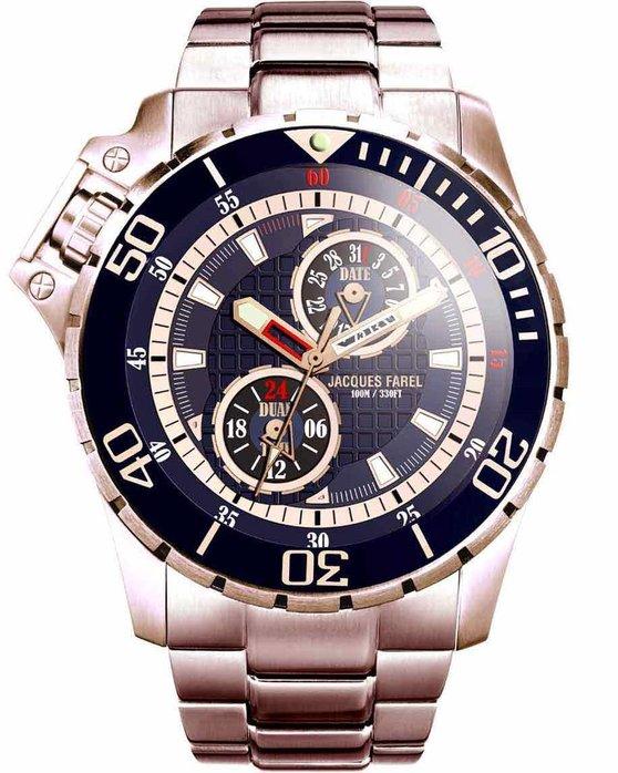 JACQUES FAREL JACQUES FAREL Men s Rose Gold Stainless Steel Bracelet 85f1f64fe4b