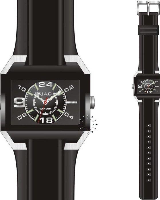 Ρολόι JAGA Sport Black Rubber Strap - AQ109 - OROLOI.gr e4e22f01ab2