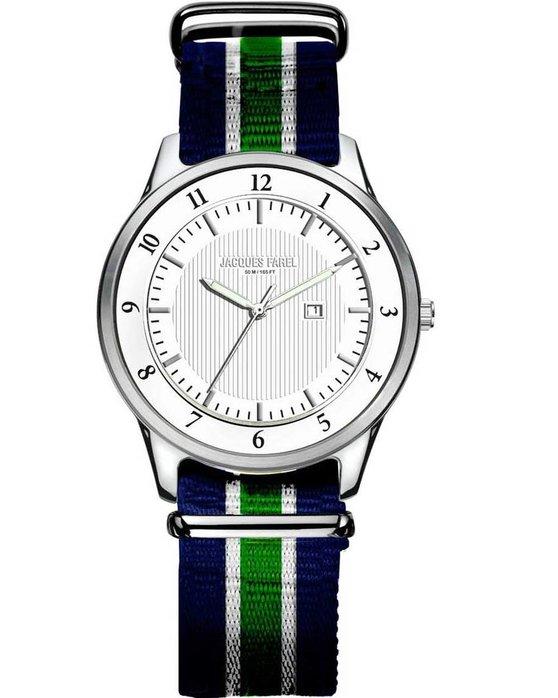 Ρολόι JACQUES FAREL Men s Multicolor NATO Strap - ASL4003 - OROLOI.gr 25d5db02ec8