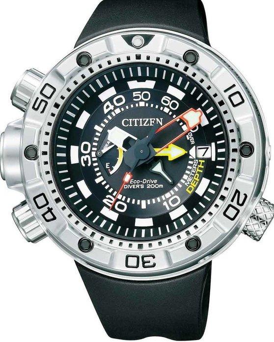 Ρολόι CITIZEN Eco-Drive Promaster Aqualand Marine Black Rubber Strap ... 367e51858bb