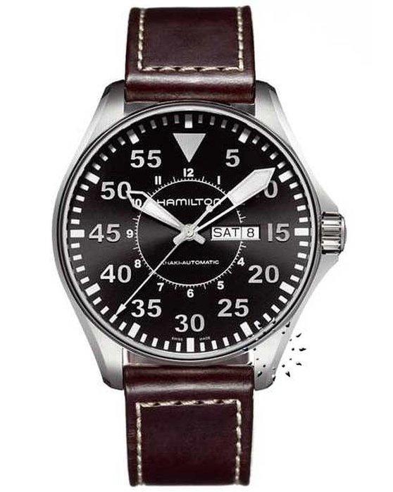 Ρολόι HAMILTON KHAKI Aviation Pilot Automatic Brown Leather Strap -  H64715535 - OROLOI.gr 66990b921f0