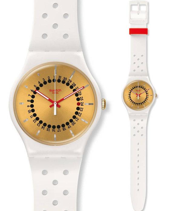 Ρολόι SWATCH Generation 31 White Rubber Strap - SUOW400 - OROLOI.gr b107b8852c8