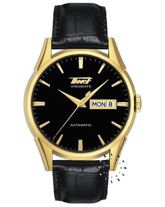 Ρολόι TISSOT Visodate Automatic Black Leather Strap - T0194303605101 ... d63994e6212