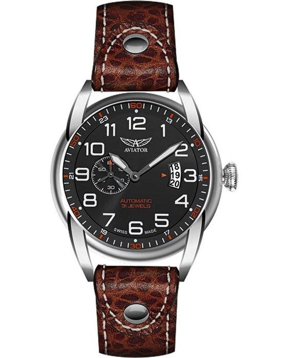 Ρολόι AVIATOR SWISS BRISTOL BULLDOG AUTOMATIC LIMITED EDITION -  V.3.18.0.100.4 - OROLOI.gr 01f7cb6bfff