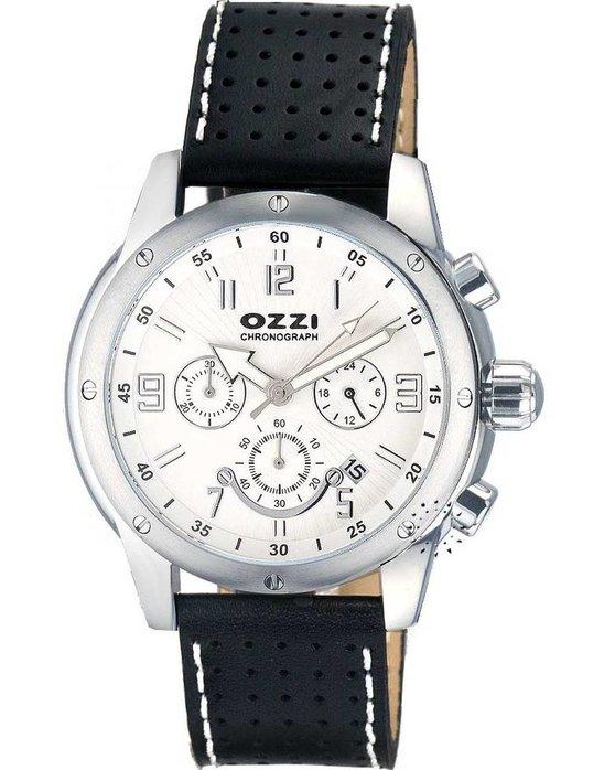 Ρολόι OZZI Chronograph Black Leather Strap - W06275 - OROLOI.gr bc1ad5f35f3