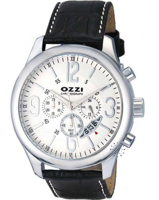 Ρολόι OZZI Chronograph Black Leather Strap - W06980 - OROLOI.gr 129c52f1c11
